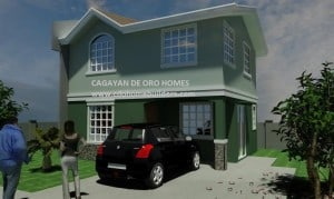 Two-storey: 3 bed rooms,2 toilet &bath, living, kitchen and garage areas