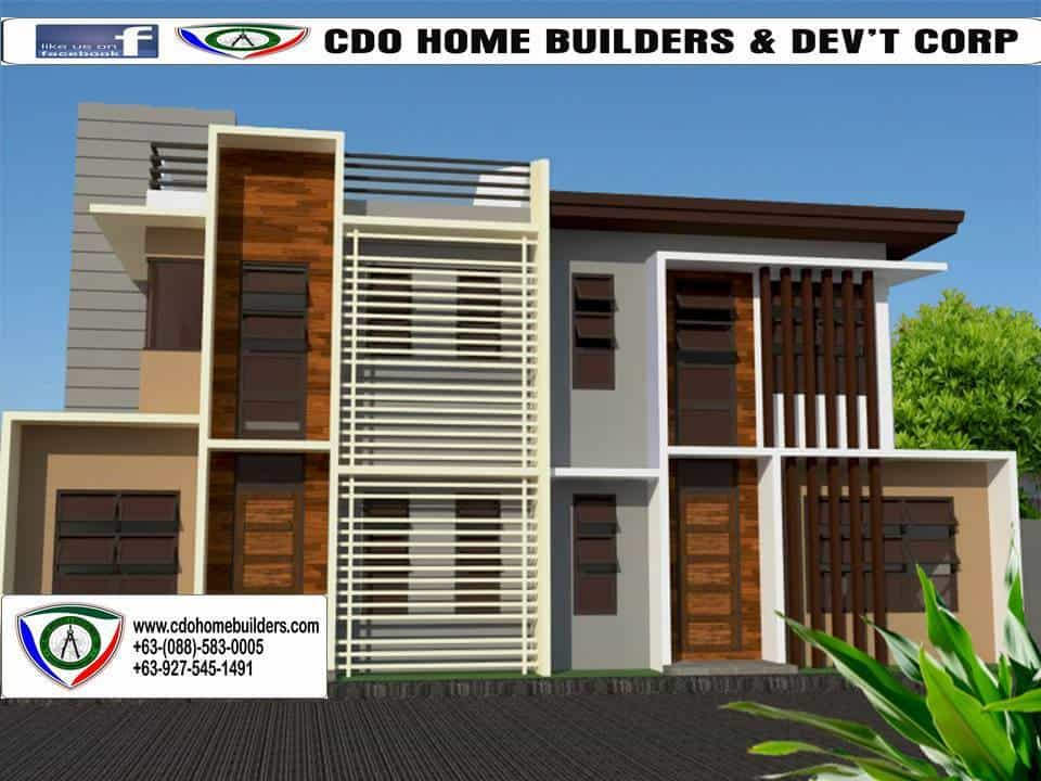 Proposed  Two Storey Duplex House